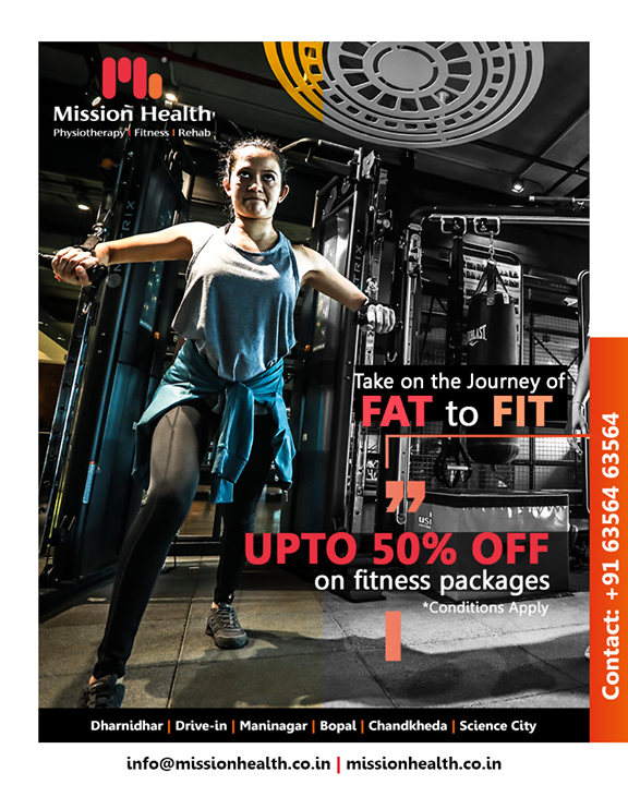 Take on a journey towards becoming the fitter you this June! Avail exclusive fitness offers all through the month!  #MissionHealth #MissionHealthIndia #Fitness #Physiotherapy  #Rehab