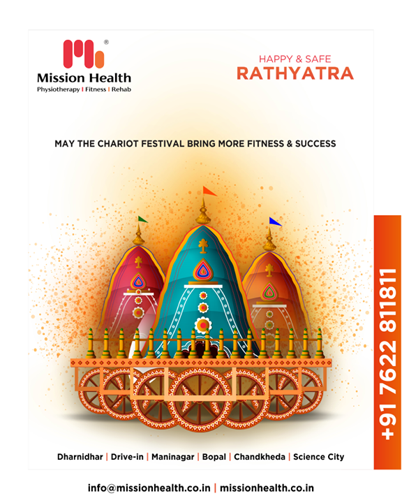 May the chariot festival bring more fitness & success  #RathYatra2019 #RathYatra #LordJagannath #FestivalOfChariots #Spirituality  #MissionHealth #MissionHealthIndia #fitnessRehab #AbilityClinic #MovementIsLife
