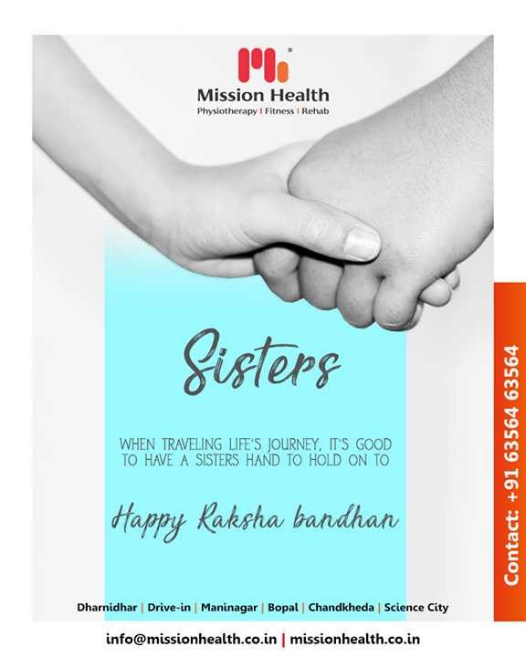 When traveling life's journey, It's good to have a sister hand to hold on to.  #Rakshabandhan2019 #Rakshabandhan #HappyRakshabandhan #IndianFestivals #Celebrations #Festivities #MissionHealth #PreventNeckPainBackPain #FirstTimeInKenya #MovementIsLife