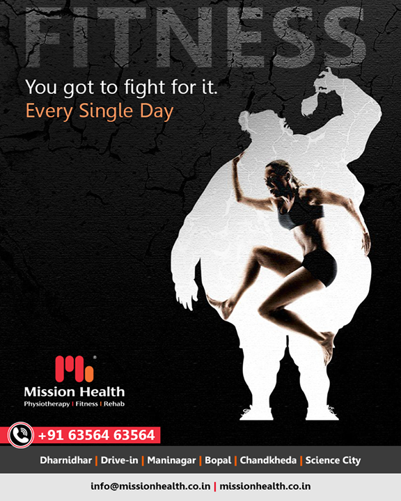 Fitness is a tiresome journey, but the results will be worth the fight!   #Fitness #MissionHealth #MissionHealthIndia #AbilityClinic #MovementIsLife