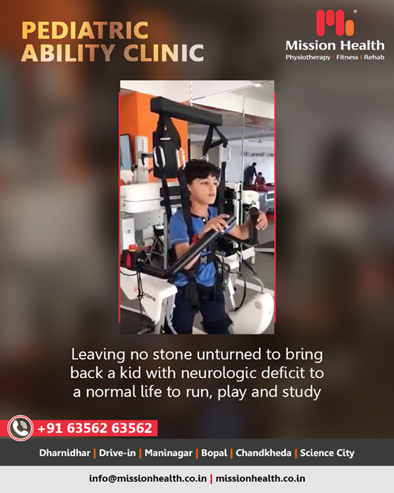 We at Mission Health leave no stone unturned in bringing back a kid with neurologic deficit to normal life! We love watching them being kids & play their hearts out!     #PediatricAbilityClinic #Fitness #MissionHealth #MissionHealthIndia #AbilityClinic #MovementIsLife