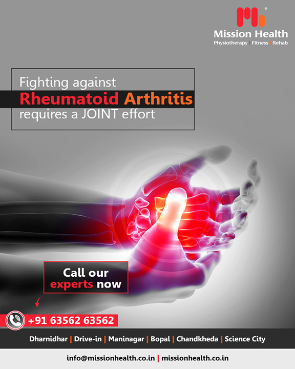 #RheumatoidArthritis requires a JOINT effort to find relief! At Mission Health our experts make sure they help you find quick relief from your RA pain!   #SpecializedRheumaticClinic #NonSurgicalPainManagementTechnologies #AdvancedRehab #MissionHealth #MissionHealthIndia #AbilityClinic #MovementIsLife