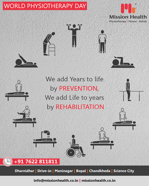 Adding years to life & Life to Years with Physiotherapy! Greetings to one & all on #WorldPhysiotherapyDay & gratitude to all our patrons who've trusted us in our journey so far!   #MissionHealth #MissionHealthIndia #AbilityClinic #MovementIsLife #Physiotherapy