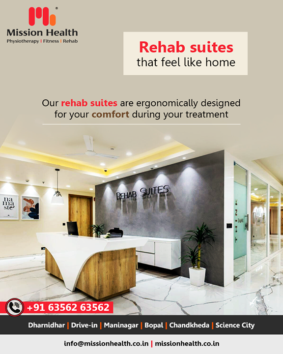 Our Rehab Suites are beautifully crafted and ergonomically designed for your comfort. Every suite has a natural view with customized amenities suited to your needs & according to your condition. The suites also have library access, lounge access & health cafe facilities for patients.       #RehabSuites #MissionHealth #MissionHealthIndia #AbilityClinic #MovementIsLife