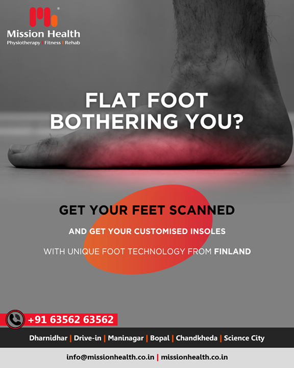 Don't let your flat foot pain become a reason of everyday discomfort!  #FlatFootPain #MissionHealth #MissionHealthIndia #MovementIsLife