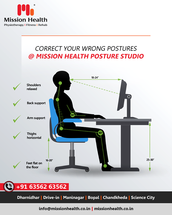 At the Mission Health Posture Studio, our expert physiotherapists identify the problem and provide a suitable solution accordingly. Re-learning a new sequence of skills, co-ordination & correct postural alignment often requires un-learning of previously established bad habits and retraining the neuromotor control to retain the new posture.  #MissionHealth #MissionHealthIndia #AbilityClinic #MovementIsLife