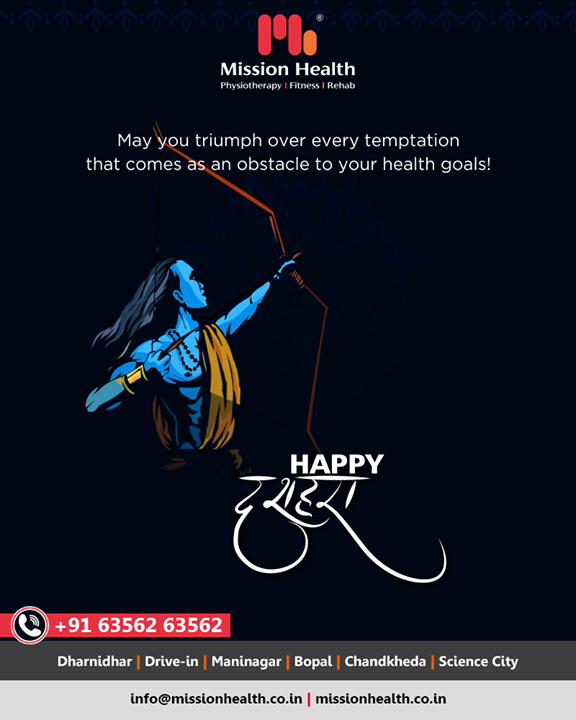 May you triumph over every temptation that comes as an obstacle to your health goals!  #HappyDussehra #Dussehra #Dussehra2019 #Vijayadashami #Festival #MissionHealthIndia #AbilityClinic #MovementIsLife