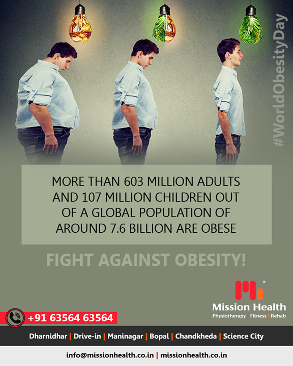 There is a clear obesity problem, with the weight increasing at four times the global average. It has become important to take action immediately and improve population health!   #FightAgainstObesity #MissionHealth #MissionHealthIndia #fitnessgoals #MovementIsLife #PersonalTraining #weightmanagement #fitness