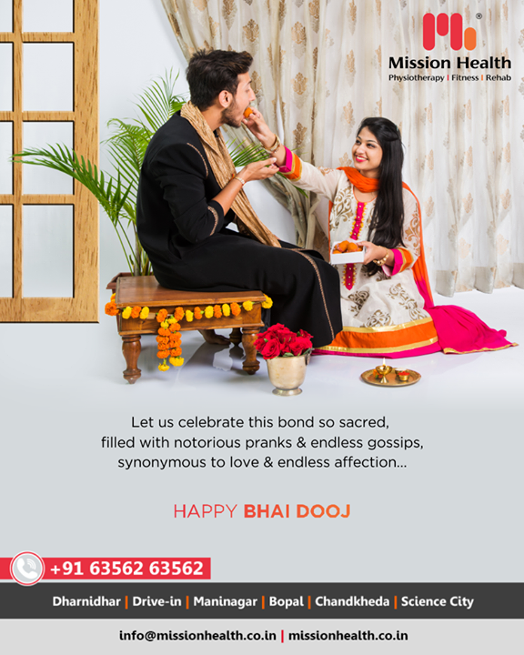 Let us celebrate this bond so sacred, filled with notorious pranks & endless gossips, synonymous to love & endless affection.  #BhaiDooj #Diwali2019 #BhaiDooj2019 #Celebration #FestiveSeason #IndianFestivals #BrotherSister #HappyBhaiDooj #MissionHealth #MissionHealthIndia #MovementIsLife #AbilityClinic