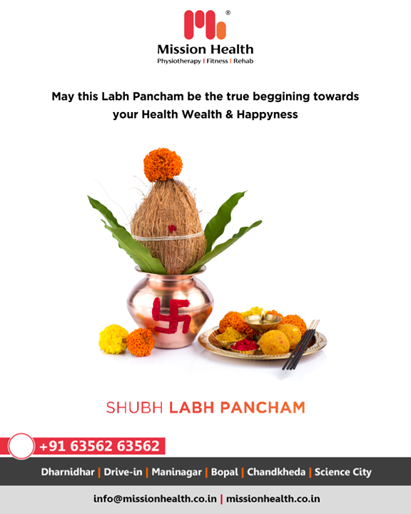 May this Labh Pancham be the true beginning towards your health wealth & happiness.  #HappyLabhPancham #ShubhLabhPancham #LabhPancham2019 #LabhPancham #Celebration #FestiveSeason #IndianFestivals #Diwali2019 #MissionHealth #MissionHealthIndia #MovementIsLife #AbilityClinic