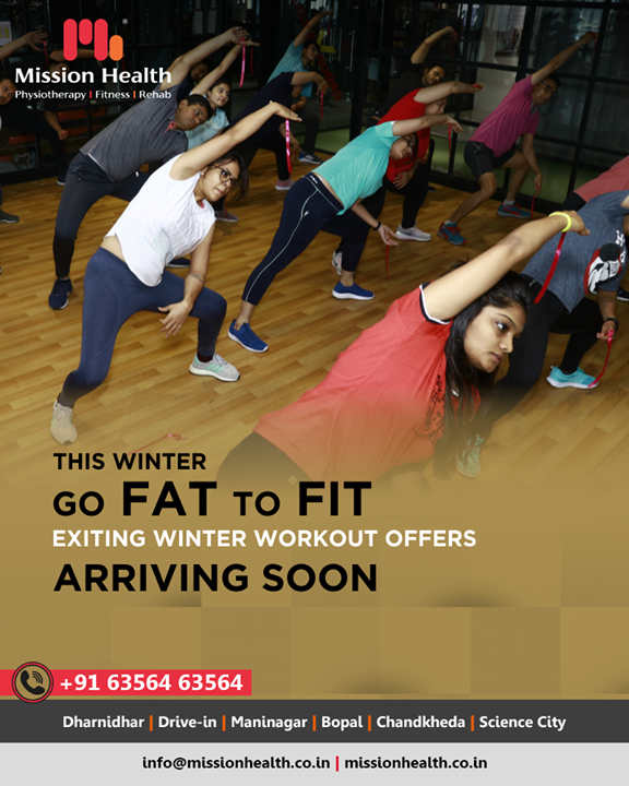 13+ Fusion Group Workouts at Mission Health Fitness Boutique. Meticulously designed workouts ensure 360° fitness. Go FAT to FIT this winter.  Call: +916356463564   Visit: www.missionhealth.co.in  #MissionHealth #MissionHealthIndia #MovementIsLife #AbilityClinic