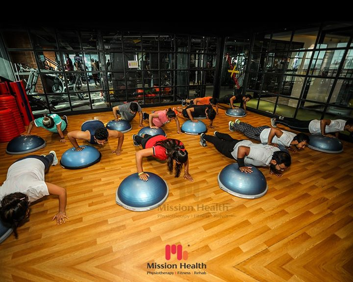 "Why Do It Alone???? Let The Power Of The Group Move You...  BOSU 3D EXTREME is an excellent Total-Body Workout Concept that focuses on 4Bs: Balance l Build l Blend l Burn  Balances your Core Strength, Flexibility, Stability & Dynamic Balance  Builds your confidence when you shred off extra Fat and achieve target Body Weight  Blends effects of ""Many in One"" workout as it is World's most effective Total Body Session, inspired by surfing  Burns extra calories and helps you ""Torch Fat & Tone your Core"" in High-Intensity Intervals  ONLY 9 Days to Go …. ""Hottest Winter Offers"" going on at Mission Health Fitness Boutique.  Call: +916356463564 Visit: www.missionhealth.co.in  #bosuballworkouts #bosuball #groupworkout #groupworkouts #groupexercise #exercise #exercises #fitnessexperts #fitnessexpert #fitnessteam #gymoholic #winterworkouts #fitness #winterfitness #befit #gymoffers #fitnessoffers #goslim #MissionHealth #MissionHealthIndia #MovementIsLife"