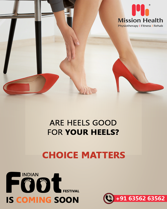 Footwear is surely considered an integral part of one's Fashion Statement.   However, have you ever bothered about how your heels affect your feet when you stress them the entire day by wearing high-heeled sandals?   Many such facts are to be revealed at the First-Ever FOOT Festival in India by Mission Health Super Specialty Spine Clinic and Rehab Centre  The Indian Foot Festival is coming soon...  Keep Reading this space for more updates!  Call: +916356263562 Visit: www.missionhealth.co.in  #IndianFootFestival #ComingSoon #FootClinic #footpain #footcare #foothealth #heelpain #anklepain #flatfeet #painrelief #healthyfeet #happyfeet #MissionHealth #MissionHealthIndia #MovementIsLife