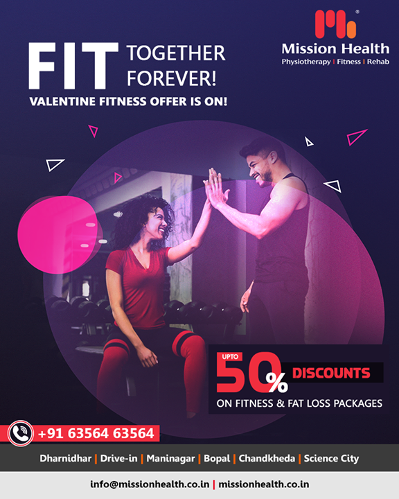 This Valentine's Day, get fit along with your partner with Our Valentine Fitness Offer!  Visit your nearest Mission Health Fitness Boutique  Call: +916356463564 Visit: www.missionhealth.co.in  #valentinefitnessoffer #exercise #exercises #fitnessexperts #fitnessexpert #fitnessteam #gymoholic #winterworkouts #fitness #winterfitness #befit #gymoffers #fitnessoffers #goslim #MissionHealth #MissionHealthIndia #MovementIsLife