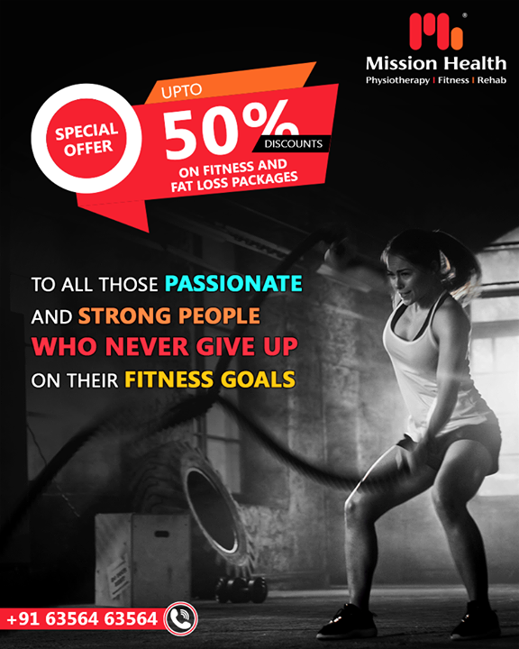 Here is our special offer for those who are passionate enough about their fitness and committed to fitness goals.  Up to 50% off of various fitness & inch loss packages at Mission Health Fitness Boutique. Few days left, hurry up!  Call: +916356463564 Visit: www.missionhealth.co.in  #fitnesspackages #gymoffers #inchloss #fitnessworkout #fitness #fitnessmotivation #workout #fitnesslife #gym #workoutmotivation #fitnessaddict #fitnesscoaching #healthchallenge #MissionHealth #MissionHealthIndia #MovementIsLife