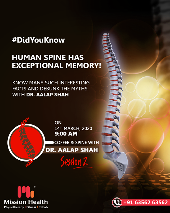 Coffee & Spine with Dr. Alap Shah is back again with Session 2 to debunk all your spine myths this Saturday.  For more details, keep reading this space...  Call: +916356263562 Visit: www.missionhealth.co.in  #CoffeeAndSpineWithDrAalapShah #DrAalapShah #SuperSpecialitySpineClinic #SpineClinic #BackPain #NeckPain #SlippedDisc #MissionHealth #MissionHealthIndia #AbilityClinic #MovementIsLife