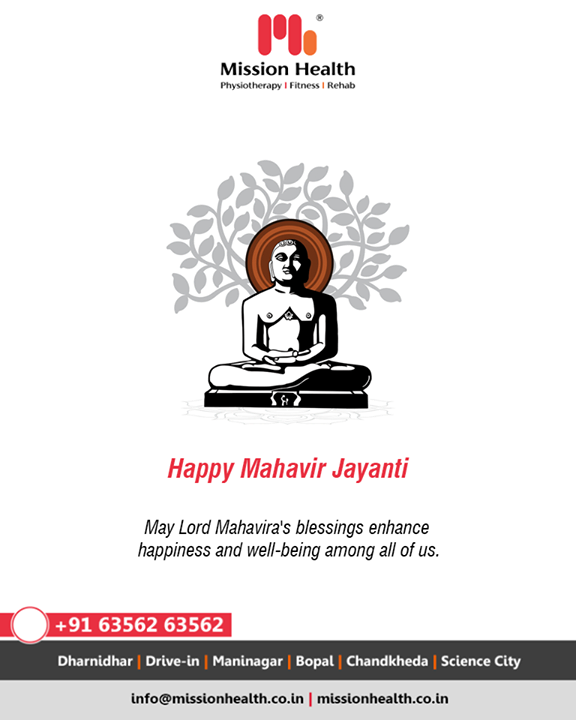 May Lord Mahavira's blessings enhance happiness and well-being among all of us.  #HappyMahavirJayanti #MahavirJayanti #MahavirJayanti2020 #MissionHealth #MissionHealthIndia #MovementIsLife