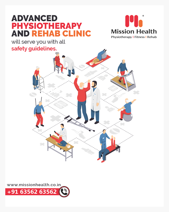 Mission Health Advanced Physiotherapy & Rehab Clinic will serve you with all safety guidelines.   This unexpected situation has put many in Pain without their regular Physiotherapy  sessions under the supervision of our Physio Experts. Thankfully, its the time to Re-Start your Physiotherapy and go Pain-Free.  Contact us for appointments and session time schedules.  Call +916356263562 www.missionhealth.co.in  #IndiaFightsCorona #Coronavirus #stayathome #lockdownopd #neurorehab #strokerehab #stroke #strokesurvior #openingsoon #physiotherapy #physiotherapist #neckpain #jointpain #backpain #spineproblems #slippeddisc #stiffness #stress #panic #workfromhome #MissionHealth #MissionHealthIndia #MovementIsLife