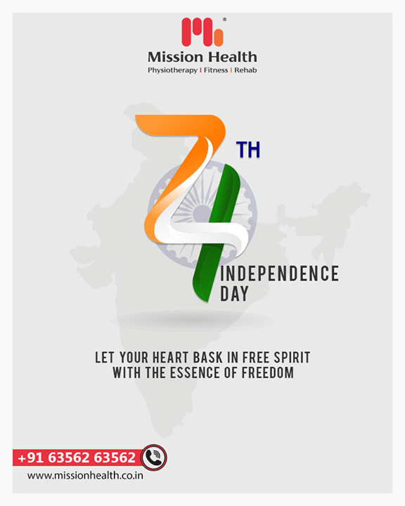 Let your heart bask in free spirit with the essence of freedom.  #IndependenceDay #JaiHind #IndependencedayIndia #HappyIndependenceDay #IndependenceDay2020 #ProudtobeIndian #Missionhealth #MissionHealthIndia #MissionHealthSportsClinic
