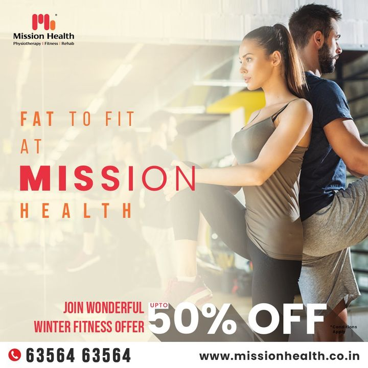 Making big plans will not help but taking small efforts regularly definitely will!  11 months are already gone remaining lazy, but you still have the last month of the year to grab the fantastic fitness offer from #MissionHealth.  Be a fitness fanatic, beat all your laziness, sweat it out, chase your fitness regime and taste the flavour of fitness. Resolve to give yourself the envy-worthy and jaw-dropping transformation at #MissionHealth.  Choose to be a member of Mission Health's world-class fitness center!!! Mission Health Helpline number: +916356463564 www.missionhealth.co.in  #MissionHealth #Fitness #PersonalTraining #FatToFit #Transform #GroupFitness #Slimming #MovementIsLife