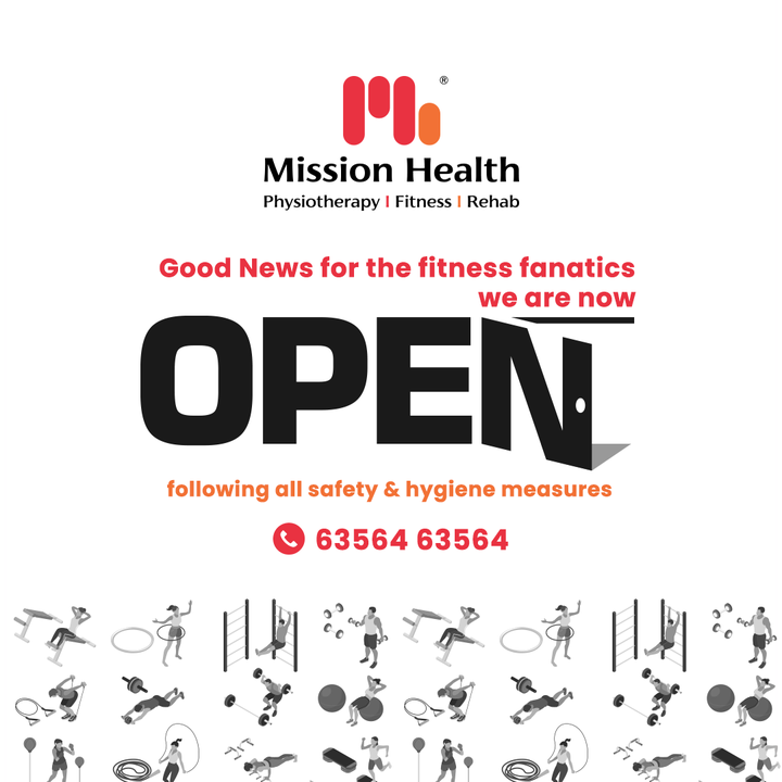 Taking the break was not a choice but coming back indeed is!  Roll up your sleeves and pull up your socks because we have the come back news for you.  Be a fitness fanatic and re-join the fits-formation league with Mission Health.   #Comeback #GreatComeback #ReOpen #FitnessFanatic #Fitsformation #FitnessLeague