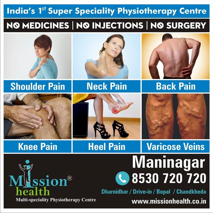 Get rid of those severe #pain that too without any #Medicines, #Injections or #Surgery only @ #MissionHealth.  To know more #visit- www.missionhealth.co.in  #Contact us on: 8530720720 Write us on: info@missionhealth.co.in