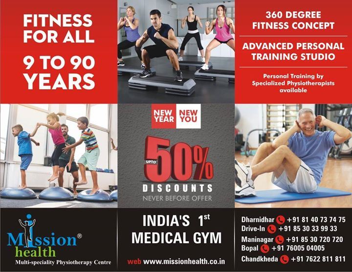 This #NewYear get #ready to be in a great shape!!  By joining the ongoing #FatLoss #Programme at #MissionHealth, Get upto 50℅ #Discount as well.   #Contact On: 8530720720 / 7622811811
