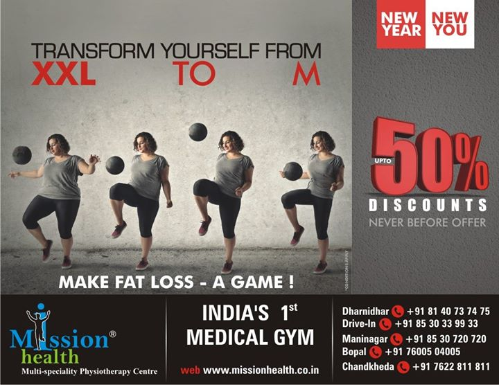 Get upto 50℅ #Discount  on #FatLoss #Programme at #MissionHealth!!  #HurryUp #discover a #new you :)  #Contact: 8530720720 / 7622811811