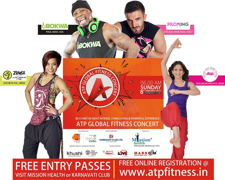 Be fit and healthy. Dance as no one is watching at ATP Fitness Concert on 8th January at Karnavati Club. #MissionHealth #FitIndiaMovement