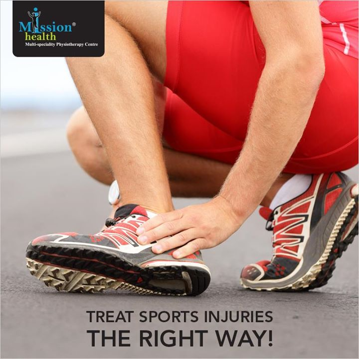Every sports injury is different and we understand that. #MissionHealth #Injury #Sports #Treatment #Physiotherapy. For more details, call us at - 7622811811/8530720720 or visit us – www.missionhealth.co.in
