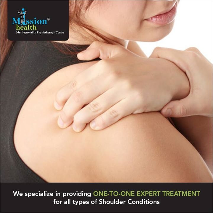 We @ Mission Health specialize in providing expert treatment for all types of Shoulder Conditions at our Shoulder Clinic.  For more details - Visit us –www.missionhealth.co.in  Call us at - 7622811811/8530720720  #MissionHealth #SpecializedPhysiotherapy #ShoulderPain #ShoulderClinic #FrozenShoulder