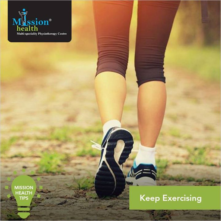 Exercise is one of the most important part for keeping your body healthy. It tends to regularize appetite,  elevate mood, promote quality sleep and lowers the risk of many diseases. Keep Exercising for a more fit and healthy life.  For more details - Visit us –www.missionhealth.co.in  Call us at - 7622811811/8530720720  #MissionHealth  #MissionHealthTips  #PhysicalFitness #MedicalGym