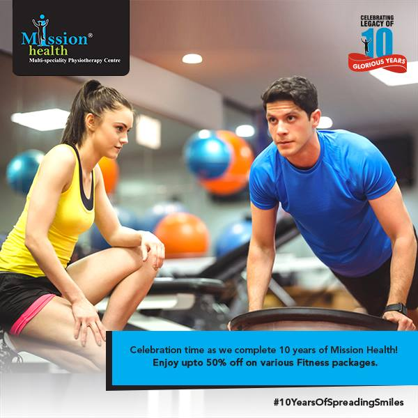 Transform Yourself from XXL TO M @ Mission Health, India's 1st ever Medical Gym.   👉Special 10th Anniversary offer - Get upto 50% off on various fitness packages. (Conditions Apply)  For more details - Visit us –www.missionhealth.co.in  Call us at - 7622811811 / 8530720720  Stay Healthy, Stay Fit.   #MissionHealth #10YearsOfSpreadingSmiles #Ahmedabad  #Discount #Offer #TransformYourself #HealthAndFitness