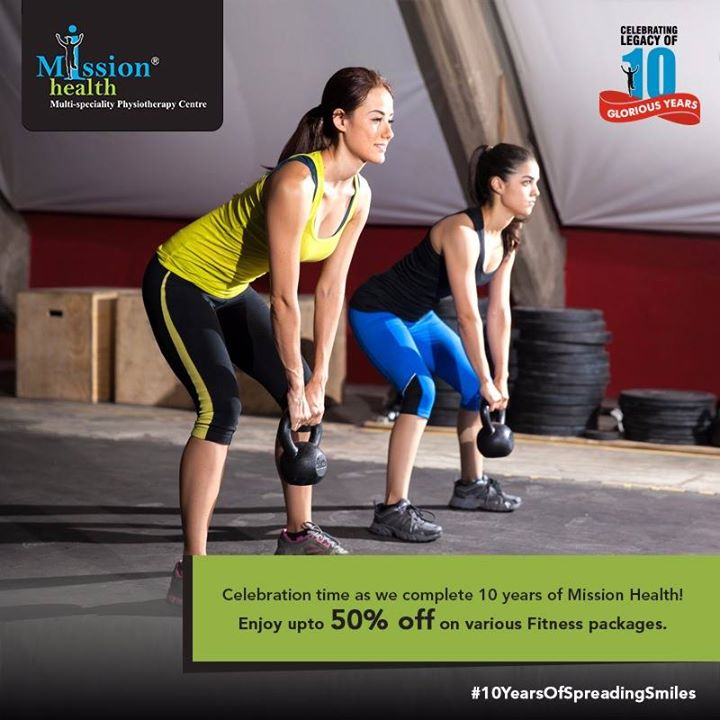 10th Anniversary Offer from Mission Health!  Join India's 1st Medical Gym at special discount of up-to 50% on various fitness packages.   Transform Yourself from XXL to M (Conditions Apply)  Celebrating the legacy of 10 glorious years!  For more details - Visit us –www.missionhealth.co.in  Call us at - 7622811811 / 8530720720  Stay Healthy, Stay Fit.  #MissionHealth #10YearsOfSpreadingSmiles #Ahmedabad #HealthAndFitness #MedicalGym #TransformYourself