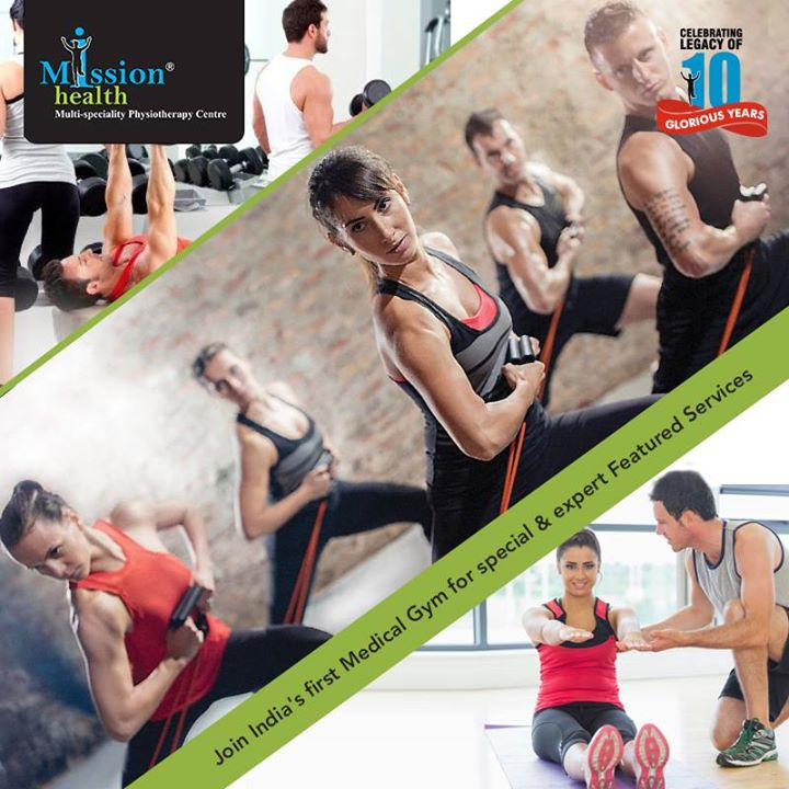 Get fit and healthy with world renowned Group Workouts and Sports Physiotherapist guided Personal Training at Mission Health, India's first Medical Gym. Not only that, Mission Health also has latest cardio equipment's, strength and Free Motion Studio along with India's rich tradition of yoga and Pranayama.  So join Mission Health for a complete path to a healthy and happy life.   For more details visit us - www.missionhealth.co.in Call us at - 7622811811 / 8530720720 #MissionHealth #Ahmedabad #Fitness #Healthylife #MedicalGym