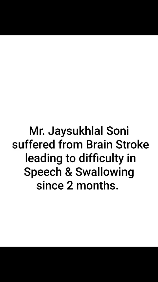 Mr. Jaysukhlal Soni suffered from Brain Stroke leading to difficulty in Speech & Swallowing since 2 months.   After taking EMG Biofeedback Treatment by Advanced technologies at Mission Health, now he not only speaks, but Sings nicely ...  For More Details Call +91 63562 63562 www.missionhealth.co.in  #missionhealth #strokerecovery #dysphagia #neurorehabilitation #advanceneurorehab #missionhealthindia #bestphysiotherapyclinicinahmedabad  #explorepage #exploremore #instadaily #instagood #viralvideos #happiness #happypatients