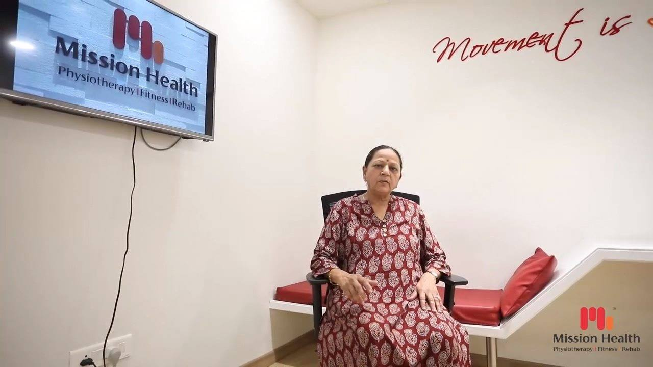 :: Experiences Mission Health Super Specialty Knee Clinic ::  If you have Knee Pain, this is a must watch video for you..  Look at what one of our patron has to say about her Knee Pain. She found reduction in her pain and positive changes in her walking pattern after each session.  Don't live with Knee Pain. It can be managed non-surgically with advanced pain management facilities from various parts of the world, at Mission Health Super Specialty Knee Clinic.  #SuperSpecialtyKneeClinic #KneeClinic #KneePain #AdvancedPainManagementFacilities #HealthyLife #Health #MissionHealth #MissionHealthIndia #MovementIsLife #AbilityClinic