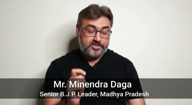 We heartily thank Mr. Minendra Daga, Senior BJP Leader from Madhya Pradesh, for congratulating Dr. Aalap Shah on pursuing Ph.D. in Spine Rehab.  We also wish him best to benefit the people of country through his Political career & Social Work...