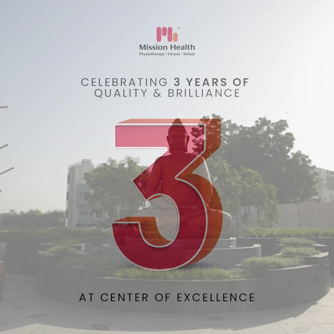 Here is the happiness spree because our Center of excellence is now Three!  Our Center of excellence speaks volume of our presence because it is the outcome of our years of efforts. We have taken every possible efforts for months and years to shape up the Center of Excellence.   With zeal and much of enthusiasm we are celebrating the 3 years completion of quality and brilliance at the Center of excellence that benchmarks our services in the entire nation.  Thanking every admirer of Mission Health who have made the journey of excellence possible for us. Looking forward to serve you and grow old for many more years.  #MovementIsLife #MissionHealth #Physiotherapists #Rehab #NeuroRobotics #CentreOfExcellence #WorldsBestPhysiotherapy #RehabSuites