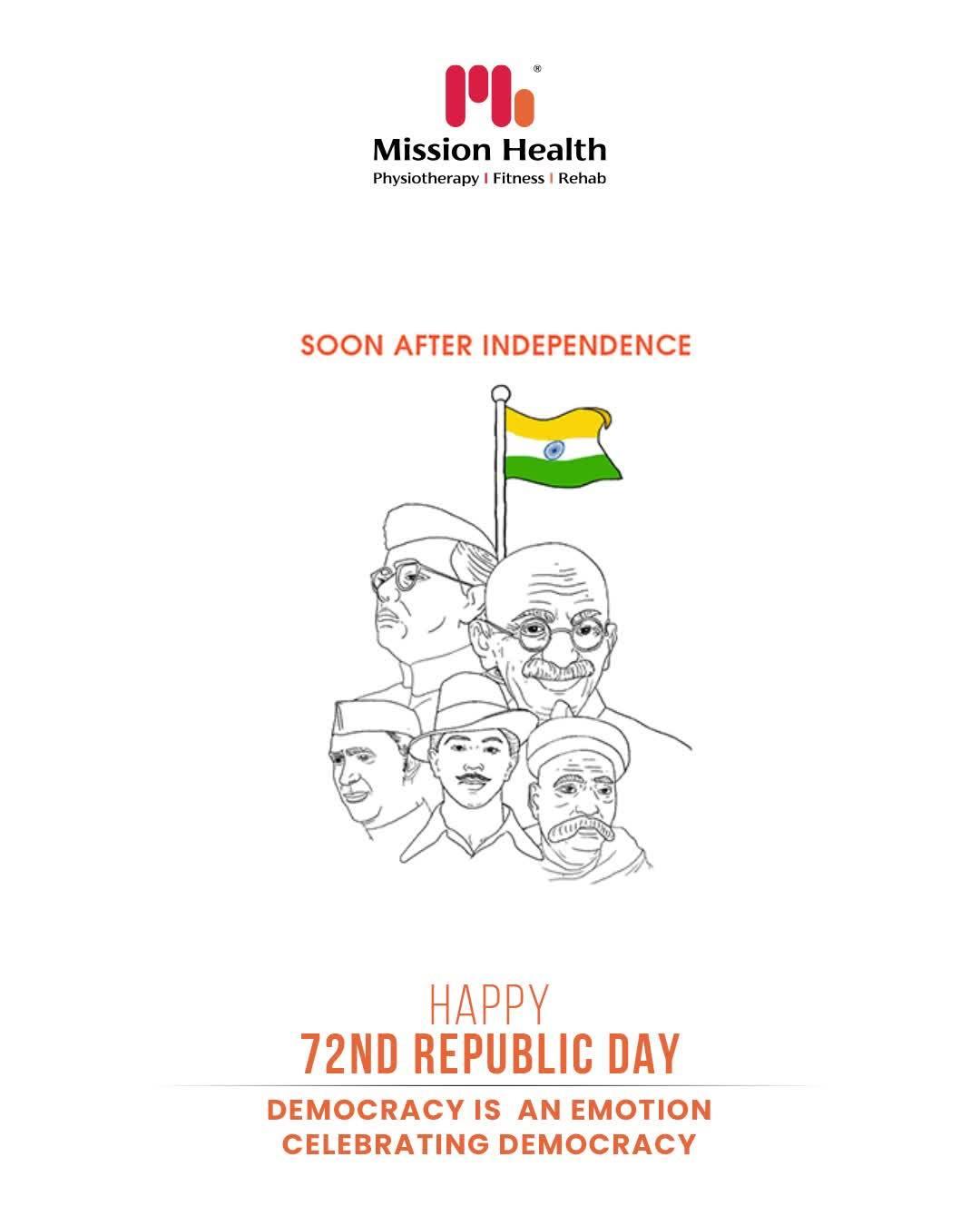 Happy Republic Day!  #HappyRepublicDay #RepublicDayIndia #RepublicDay2021 #India #JaiHind #MissionHealth #Fitness #PersonalTraining #FatToFit #Transform #GroupFitness #Slimming #MovementIsLife