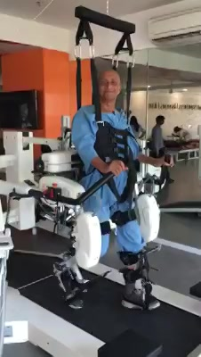 70 Year old Dr. Bhattacharya Uncle enjoying his time on the Lokomat @ Mission Health Ability Clinic is the definition of happiness... #InternationalDayofHappiness #NeverGiveUp #Neuroplasticity #NeuroRehabilitation #MissionHealth #MovementIsLife  Mission Health Ability Clinic : +916356263562  www.missionhealth.co.in