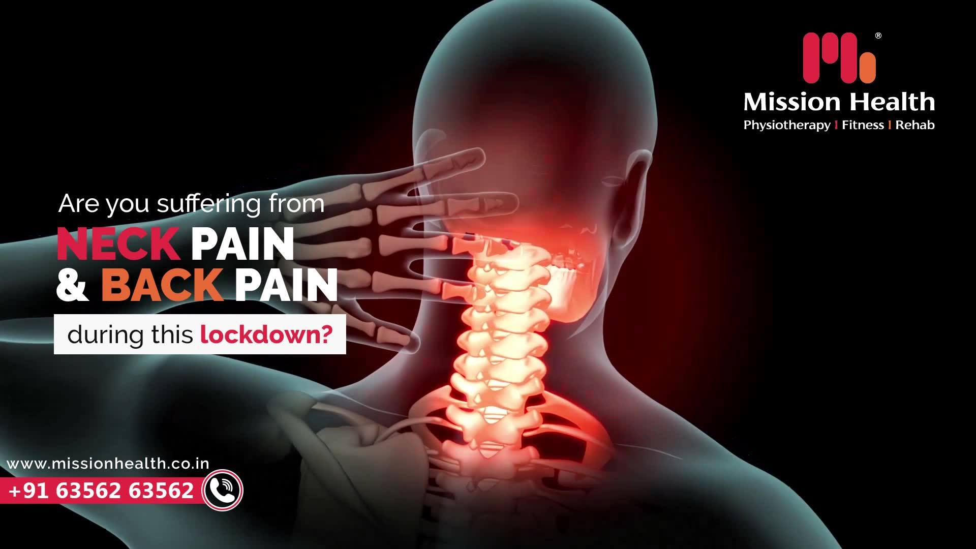 Are you suffering from Neck Pain & Back Pain during this lockdown?   The most possible reasons could be over usage of gadgets and incorrect postures while working from home.   Share your problem & symptoms with us and schedule your appointment. Ignoring a Minor pain today can result in a Major Spine Problems tomorrow.       Call +916356263562 www.missionhealth.co.in  #IndiaFightsCorona #Coronavirus #stayathome #lockdownopd #neurorehab #strokerehab #stroke #strokesurvior #openingsoon #physiotherapy #physiotherapist #neckpain #jointpain #backpain #spineproblems #slippeddisc #stiffness #stress #panic #workfromhome #MissionHealth #MissionHealthIndia #MovementIsLife