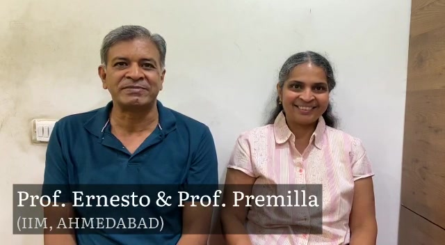 Mission Health is glad to hear words of encouragement from Prof. Premilla & Prof. Ernesto (IIM-A), highly recognizable name internationally in the field of Research in Management, on Dr. Aalap Shah pursuing PH.D. in Spine Rehab.   We thank both of them for showing trust on us since many years.