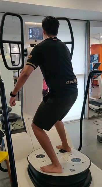 An Advanced Neurophysical training for Flexibility, Dynamic strengthening, Posture, Balance & Reaction time in one go.. An exclusive Posture & Coordination game that engages both Physical & Cognitive skills.. Rehab that can address 90% of classic pathologies.. . . . . #missionhealthindia  #missionhealth  #huber  #balancerehab #bestphysiotherapyclinicinahmedabad  #bestneurorehab  #explorepage✨  #exploremore  #viralvideos  #instadaily  #instagram  @instagram