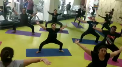 Halloween Stretch Class in Warrior Poses #available @ #MissionHealth.   #Call 8530720720/7622811811 for 360 degree #Fitness #programmes @ our #MediGym & #Group #exercises #Studio.  Our locations:- #Dharnidhar #DriveIn #Maninagar #Bopal#Chandkheda