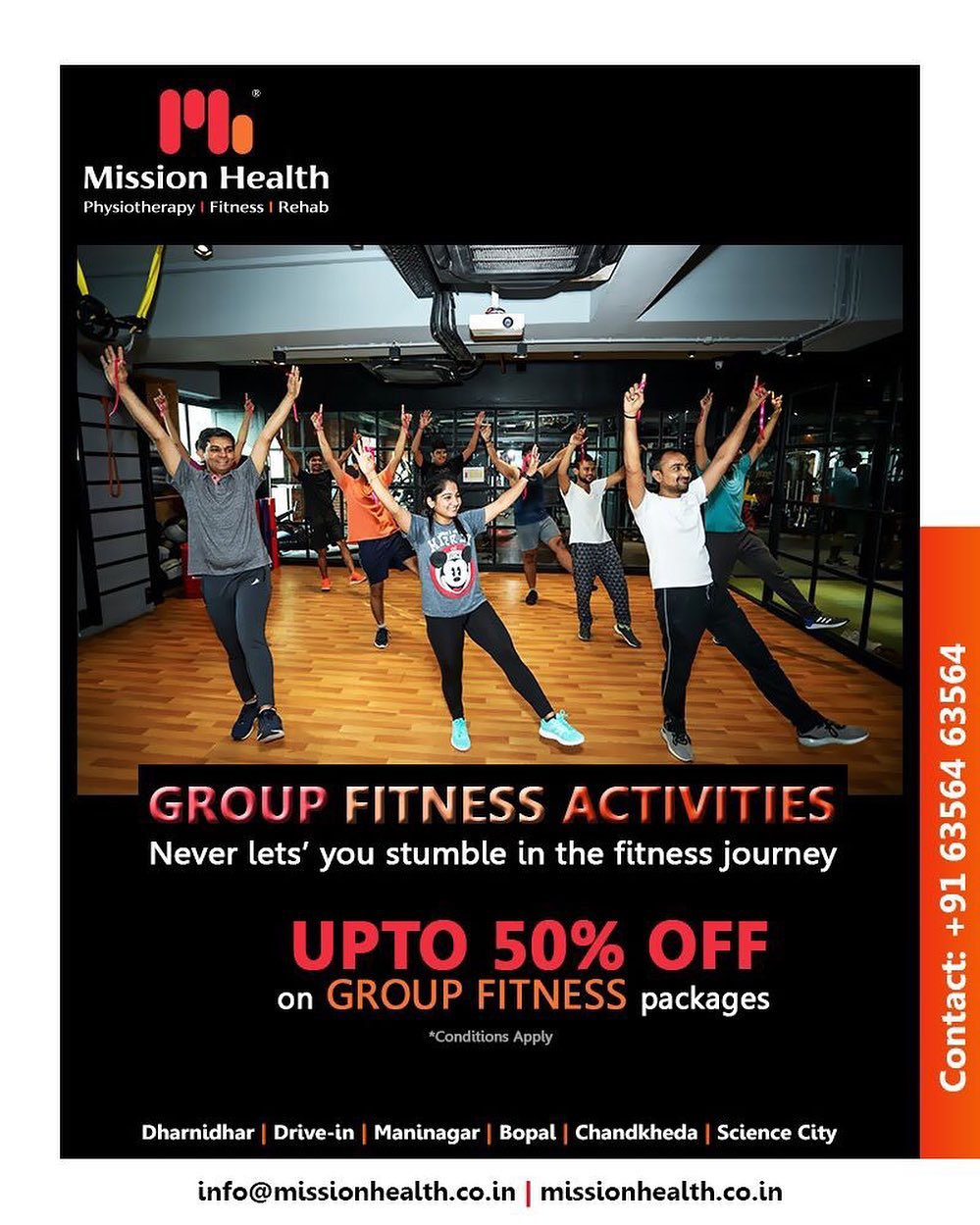 The gang of friends who workouts together, stays fit & fabulous together!  #AnniversaryCelebrations #12thAnniversary #FitnessOffers #JuneOffers #GetFit #MissionHealth #MissionHealthIndia #Fitness #Physiotherapy #Rehab
