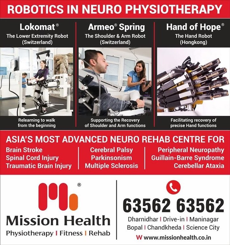 Experience a holistic approach of robotics in neuro physiotherapy that facilitates recovery with precise outputs.  #roboticsinneurophysiotherapy #neurophysiotherapy #MissionHealth #MissionHealthIndia #fitnessRehab #AbilityClinic #MovementIsLife #weightloss #fitness #fitnessoffer #weightmanagement