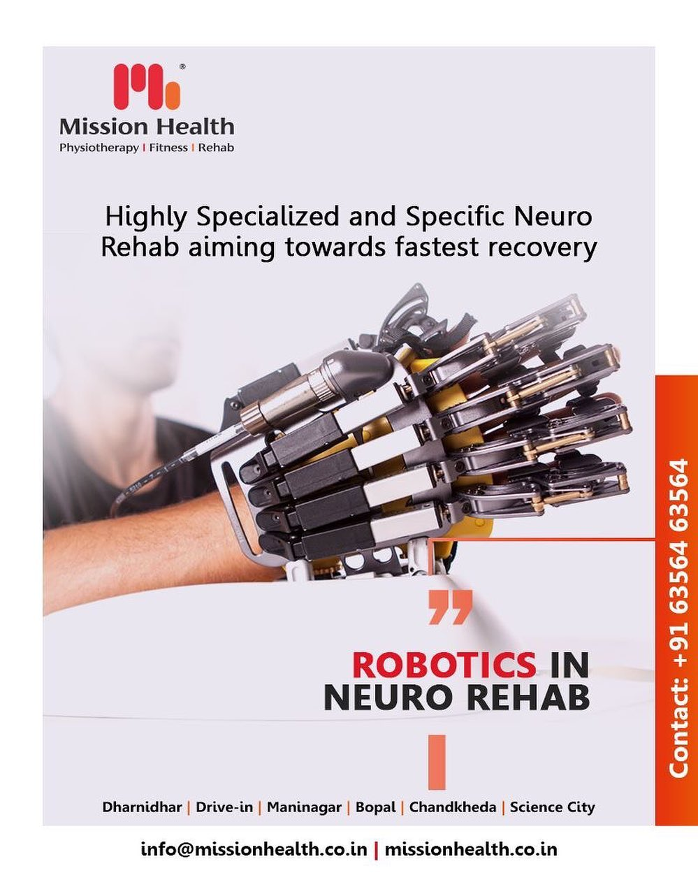 Robotics in Neuro Rehab enables the patients to return to the highest level of function and independence possible while improving Physical, Mental & Social quality of life.  #RoboticsNeuroRehab #roboticsinneurophysiotherapy #neurophysiotherapy #MissionHealth #MissionHealthIndia #AbilityClinic #MovementIsLife