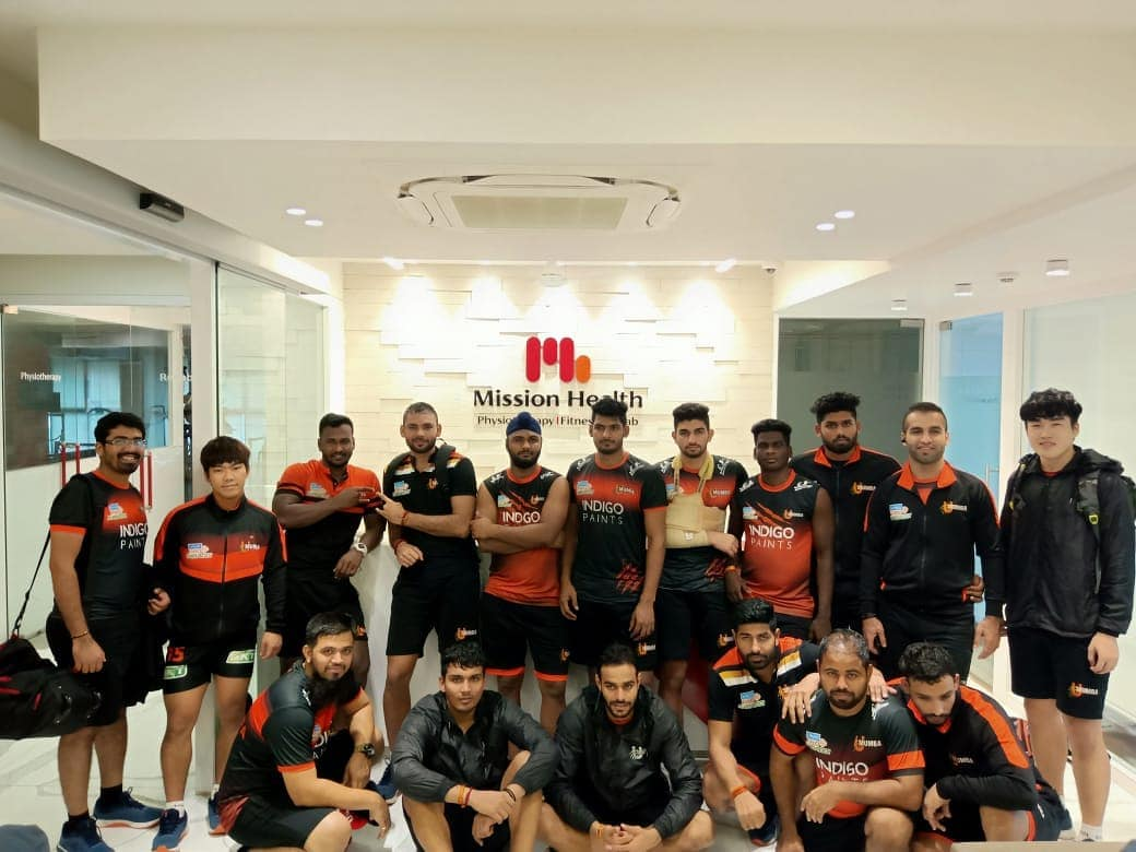 U Mumba, Pro Kabbadi team from Mumbai after finishing Strength & Conditioning session @ Mission Health Centre of Excellence, Ahmedabad.  #MissionHealth #Physiotherapy #Fitness #Rehab #StrengthAndConditioningStudio #SportsInjuryPrevention #SportsRehab #Umumba #ProkabbadiLeague #MovementIsLife