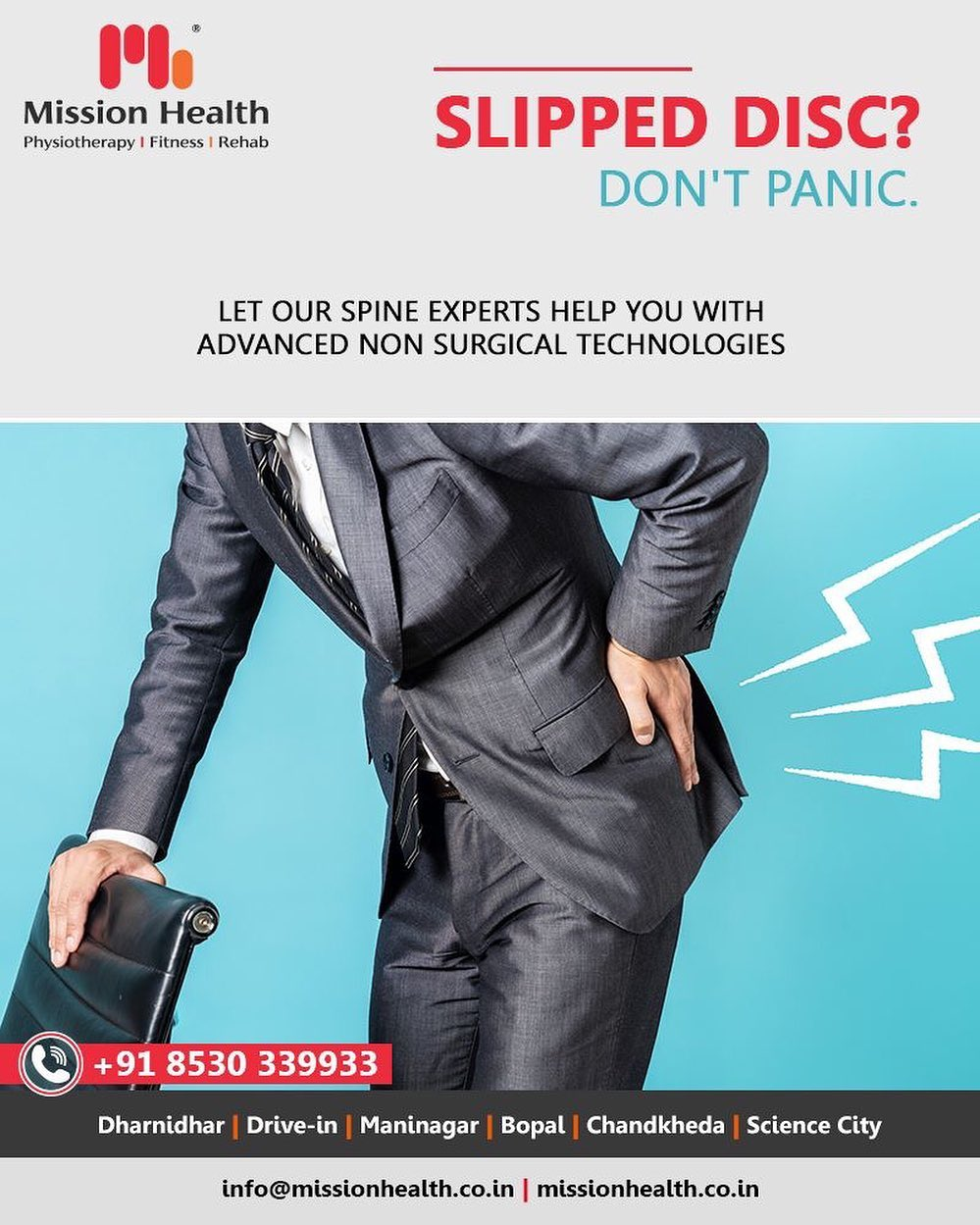 Trust us when it comes to your spine concerns! We shall help you with the most advanced non-surgical technologies!  #MissionHealth #MissionHealthIndia #AbilityClinic #MovementIsLife #SpineClinic #SlippedDisc